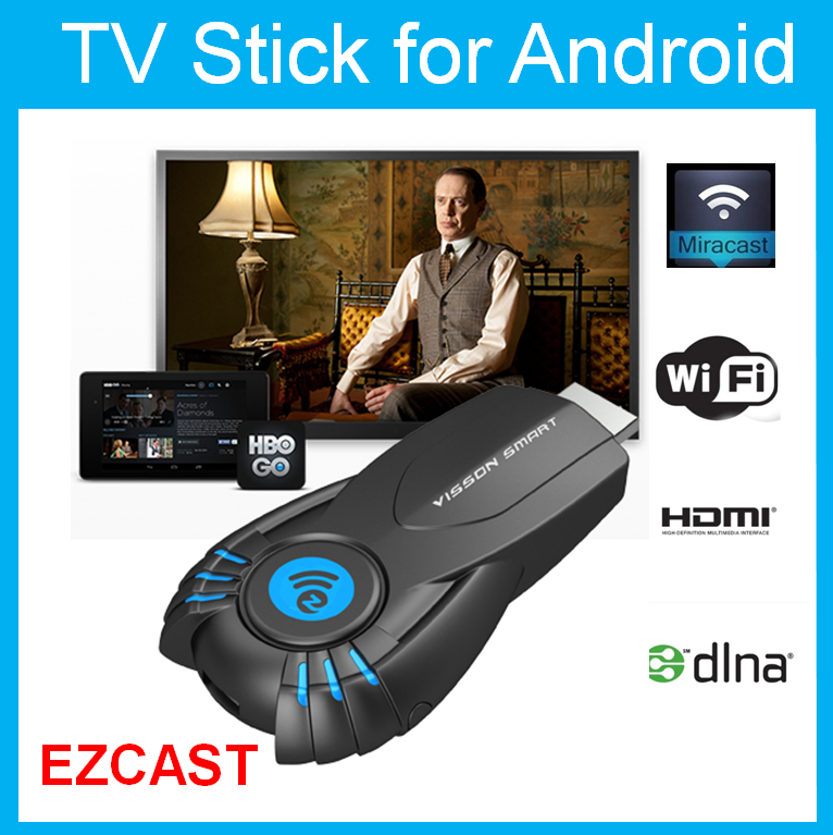 Best Smart TV Stick Ezcast Miracast Dongle DLNA Airplay MirrorOP For IOS Andriod OS Windows better than android tv mk808(China (Mainland))