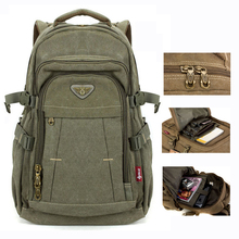 Canvas backpack college school bags