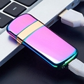 Usb charge electronic lighter windproof thin male personality Women electric heating wire colorful cigarette lighter