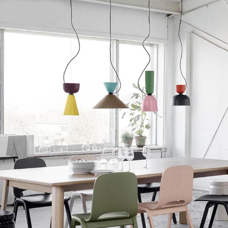 Colorful simple design can be customized E27 Pendant Light Suspension Drop Lamp Modern Bulbs Bar Restaurant Iron Pendant Lamp(China (Mainland))
