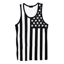 2016 Summer fashion Men cotton tank tops Fitness gym clothing Wear Vest Stringer Sport Undershirt freeshipping