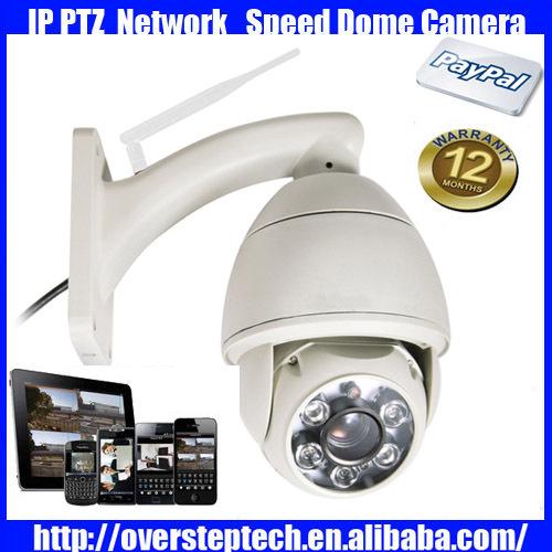 720P HD ip camera 5x 2.8-12mm Optical Zoom H.264 ptz wifi network camera Outdoor waterproof CCTV Dome Camera(China (Mainland))
