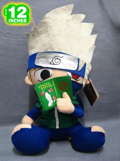 Free Shipping Naruto Hatake Kakashi Plush Doll Toy Anime Cartoon Doll Toys Kids Birthday Gift NAPL8032(China (Mainland))