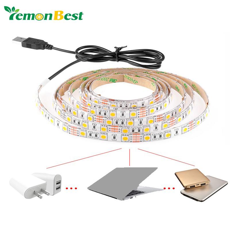 USB Cable LED Christmas stripe light lamp 5V SMD3528 5050 30 leds 60 LED 120 LED Flexible Strip Light TV Background Lighting Kit(China (Mainland))