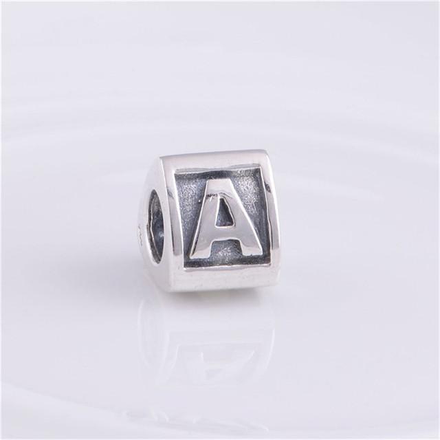 Подходит пандоры прелести браслет 925-Sterling-Silver бусины письмо треугольной формы европейский шарм женщин DIY мода ювелирных изделий