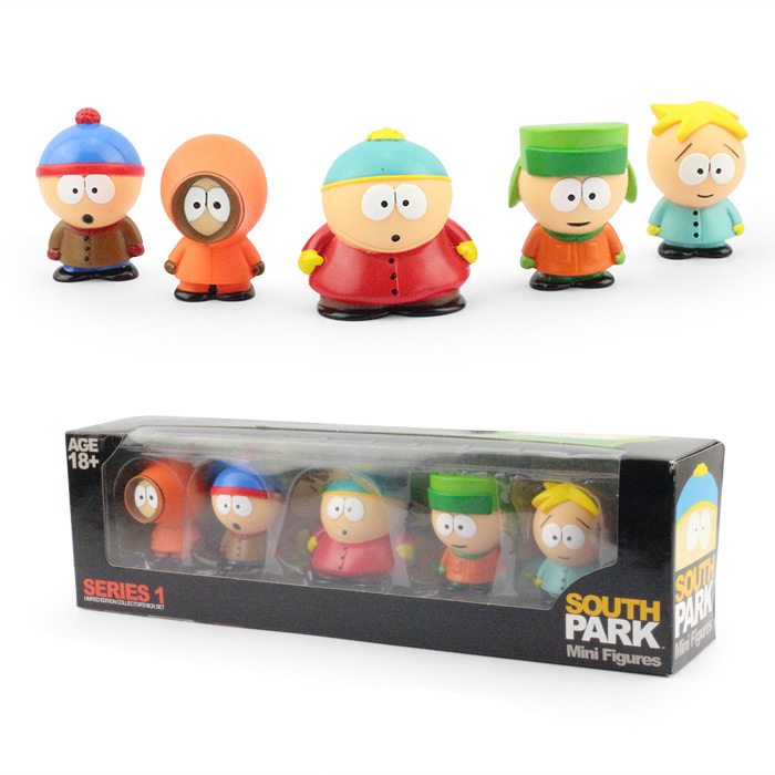 Anime South Park Stan Kyle Eric Kenny Leopard Mini 6cm PVC Action Figure Collectible Model Toy Kids Gifts KT449