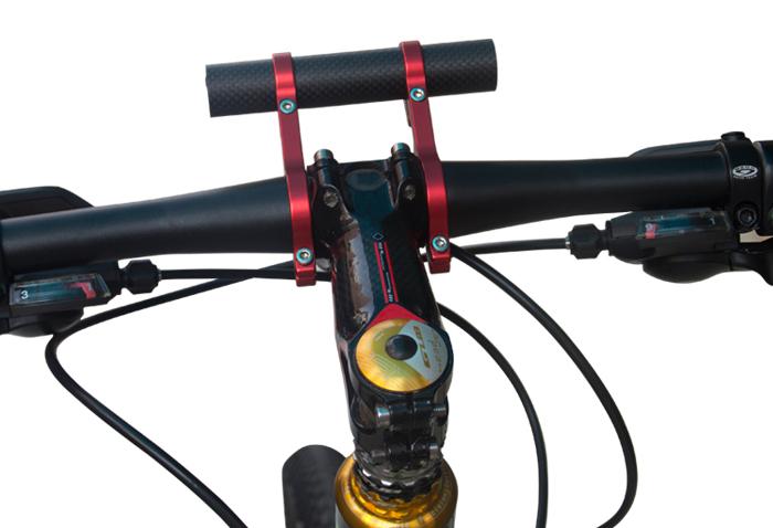 Handlebar Carbon Tube Chronograph Bike Expander CNC Anodised Bicycle Multicolor Headlight Flashlight Mount Lamp Holder Expander