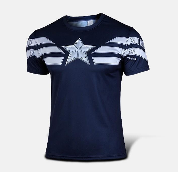 NEW 2015 Superman Hero compression tights sport T shirt Men fitness clothing short sleeve t-shirt(China (Mainland))