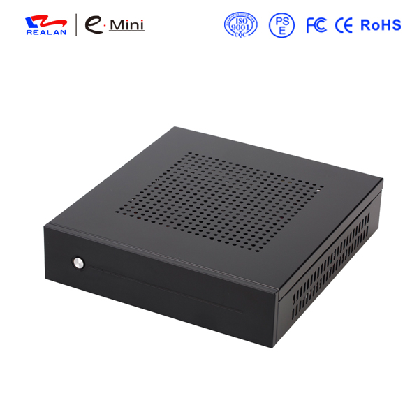 Realan SGCC Mini ITX Case E-T3 Slim HTPC Case with WallMount Bracket & VESA free shipping(China (Mainland))