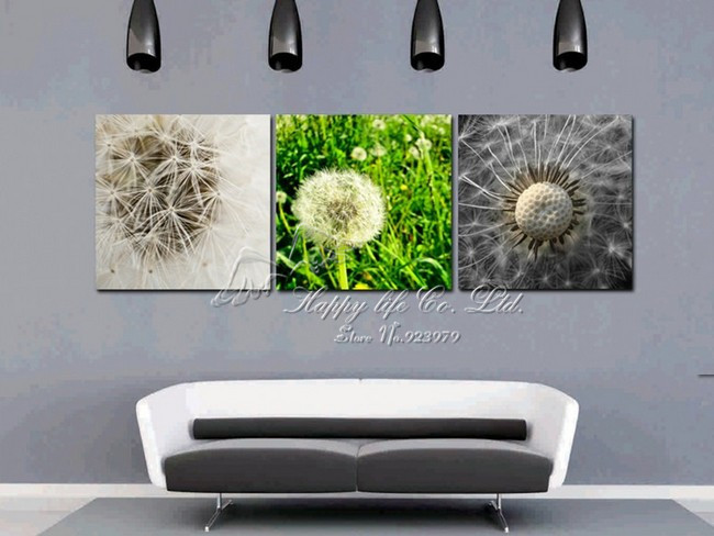 3Panels abstract grass plant Living Room Decorative Canvas Painting Modern Picture Paint Print Art Wall(China (Mainland))