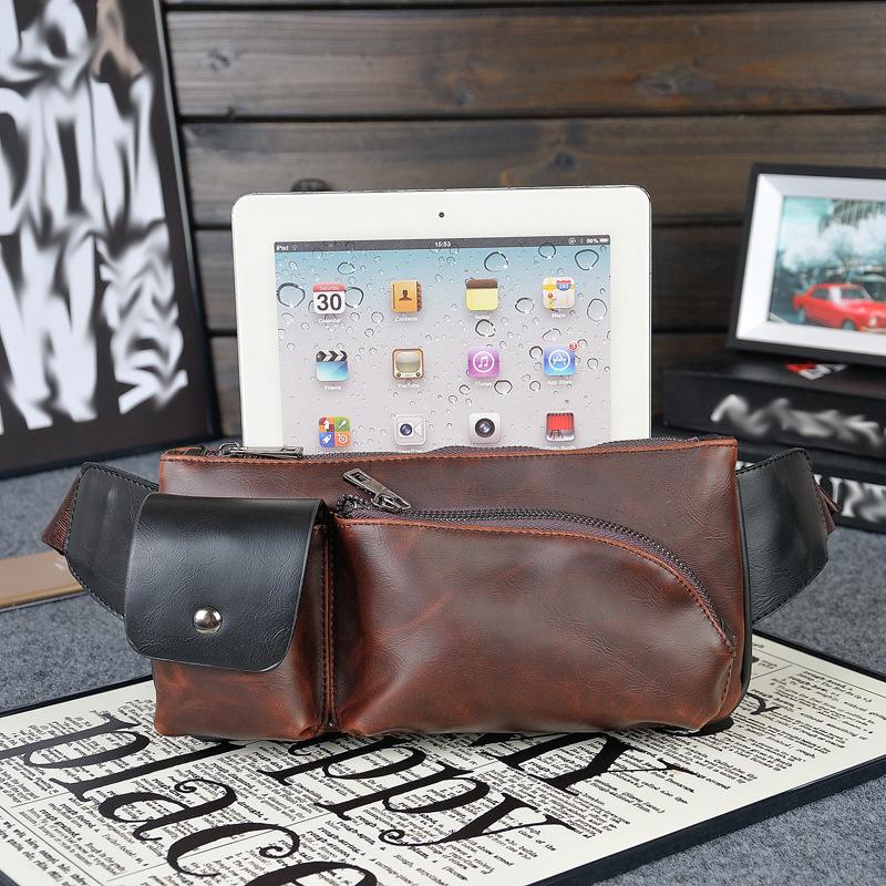 2015 New Fashion Men Messenger Bags Original Design Men Bags Best Leather Sports Chest Pack Casual Men's Crossbody Bag(China (Mainland))