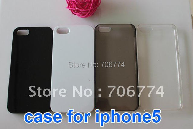 500pcs/lot Smooth Gloosy Crystal Plastic Hard Skin Back Case Cover Protector For Apple iPhone 5 5S