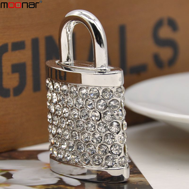 U Disk Flash Disk Crystal Lock 8GB Jewelry Usb Flash Drive Jewelry Usb Memory Pen Driver Gifts Gadget Pendrive(China (Mainland))