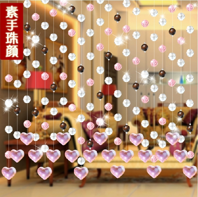 Free Shipping 10 Meters Glass Crystal Beads Curtain Window