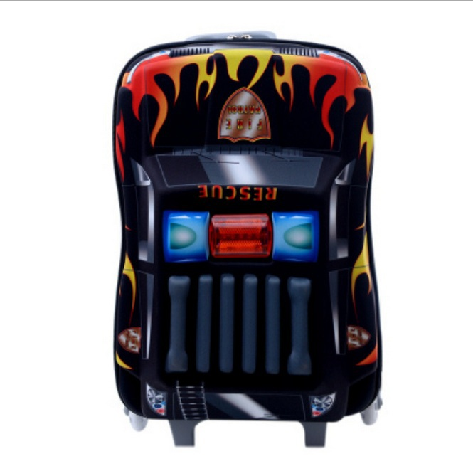 2016 HOT 16 inch police cars 3D EVA Pull rod box boy kids cool luggage suitcase Kids Travel cartoon children gift trolley case(China (Mainland))