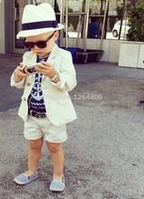 2016 I Più Nuovi Smoking Bianco Bambini Ragazzi Wedding Suit Due Parti Per I Ragazzi di Alta Qualità Ragazzi Smoking di Cerimonia Nuziale Su ordine(China (Mainland))
