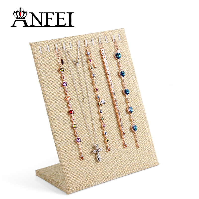 (Defect Item 34% Off) Linen Material necklace pendant bracelet Display stand jewelry jewelry display shelf storage shelves(China (Mainland))