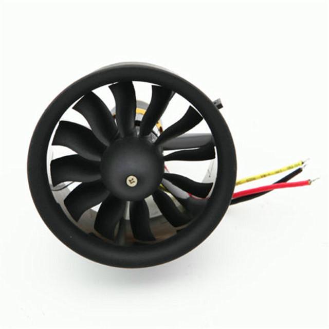 64mm Ducted Fan Set 12 Blades EDF Poweful Electro-motor kv3200 set Pass Balanced Test - Easy-life club store