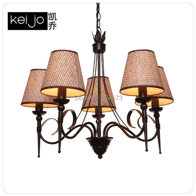American Wrought Iron Pendant Light Modern Parlor Lighting