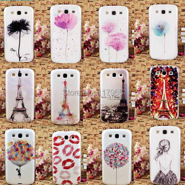 2015 hot fashion Multiple Patterns tower/flower/lip/beauty Back Skin Case Cover Shell for Samsung Galaxy S3 i9300 Hard PC EC287(China (Mainland))