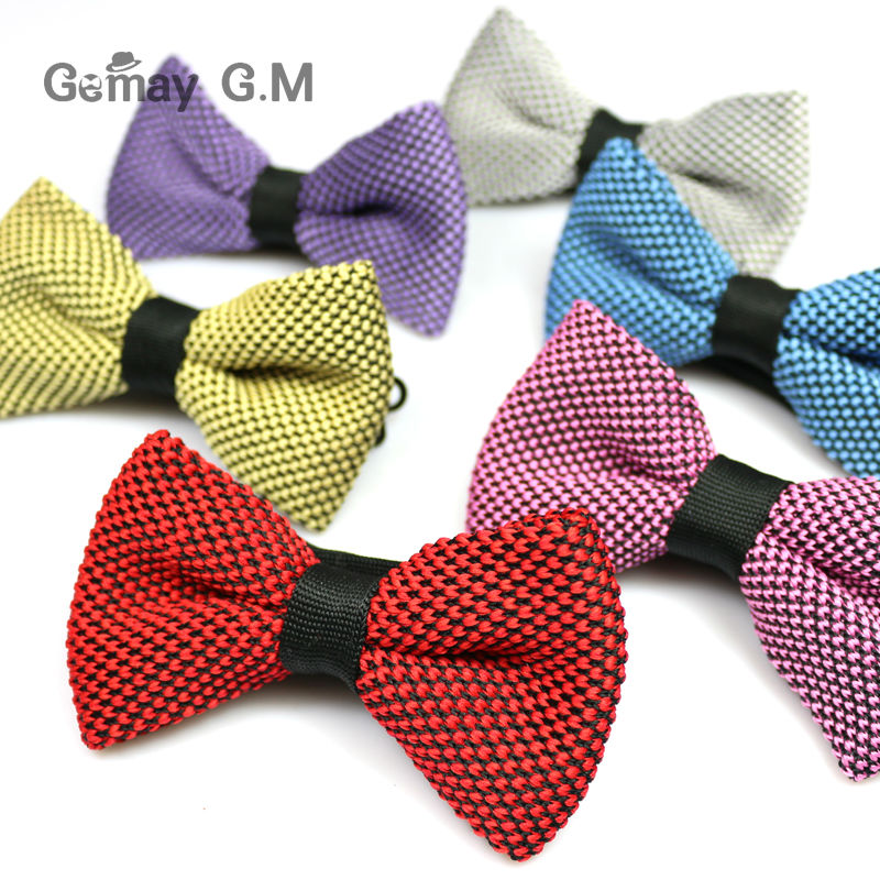 2018 New Men Neck Knitted Bowtie Single Mens Bow Tie Pre Tied