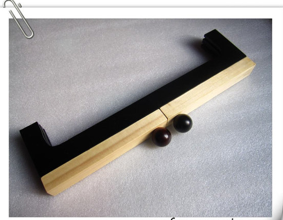 2014 New and Fashion 55% OFF 32cmx 9cm wooden purse frame with screws /China factory supplier(Hong Kong)