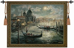 scenery Venice nautical art big size Wall hanging tapestry living room wall pictures Aubusson home textile - Hangzhou Home & Garden co., LTD store