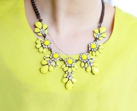 2014 New Fashion Shourouk Gold Chain Choker Vintage Rhinestone Neon Bib Statement Necklaces & Pendants Women Jewelry Gift - Olaru Store store