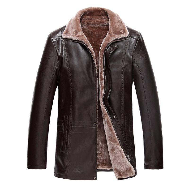2015 New Men's Winter Leather Jacket Men Famous Brand ...