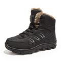 Men Boots Winter With Fur Canvas Inside Warm Snow Boots Men Outdoor Boot Men Work Shoes