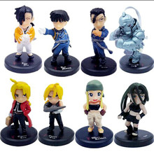 8pcs/set Full Metal Alchemist Action Figure Toys Anime PVC Christmas Gift Collection Mini Toy