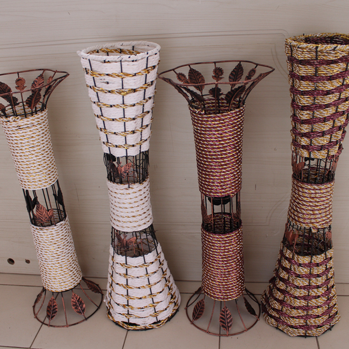 rattan floor vase dried flowers artificial flower bronze tieyi large floor vase flower. Black Bedroom Furniture Sets. Home Design Ideas