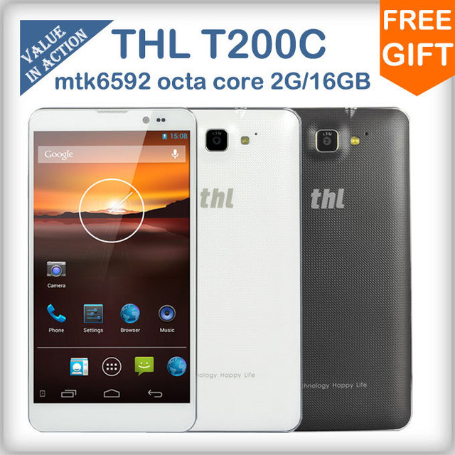 "Original THL T200C MTK6592 octa core cell phones android 4.2 2GB RAM 16GB ROM 6.0""Gorilla Glass 3 13MP camera NFC/OTG/Gyroscope"