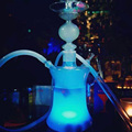 1 Set Borosilicate Glass Hookah Shisha With 16 kinds of LED Lights Silicone Hose Without Leather