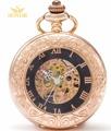2017 SEWOR Top Brand Fashion Gold Bronze Quartz Enamel Gold Roman NumberPocket Watch black Dial C163