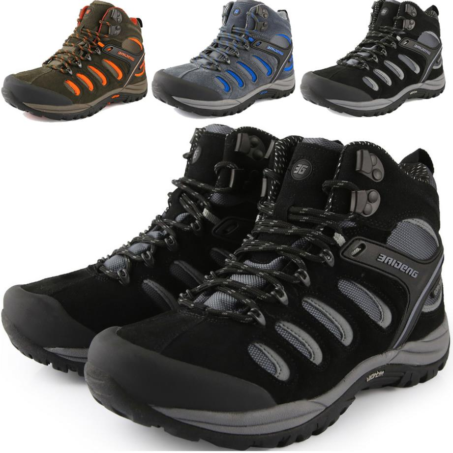 2015 Mens hiking shoes Outdoor Waterproof Climbing Genuine Leather Boots Mountain Trekking Shoes - jiajia Co., Ltd. store