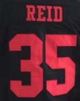 7 Colin Kaepernick shirts jersey 35 Eric Reid 28 Carlos Hyde 53 NaVorro Bowman Jerry Rice joe montana Anquan Boldin stitched(China (Mainland))