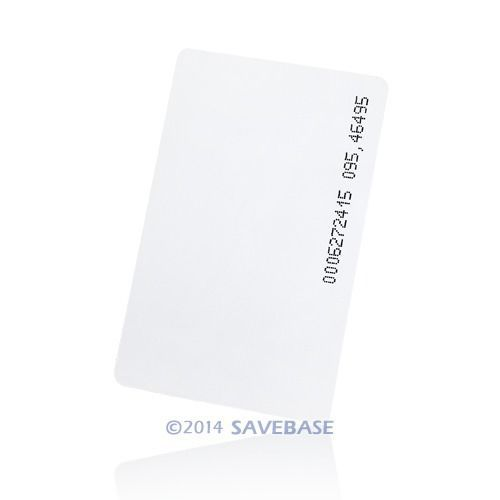 HOMSECUR 50pcs125Khz RFID ID Card 0.8mm For Access Control And Time Clock Use(China (Mainland))