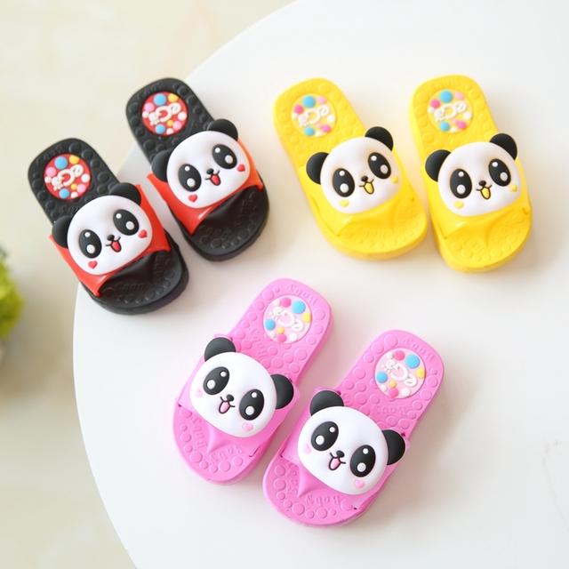 2016 новый летний дети обувь тапочки панда девушки пляжные мальчики обувь размер ...
