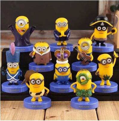 High Qulity Anime McDonald Minions cartoon doll Minecraft small decoration hand-done toy Birthday Promotions Gifts Brinquedos(China (Mainland))