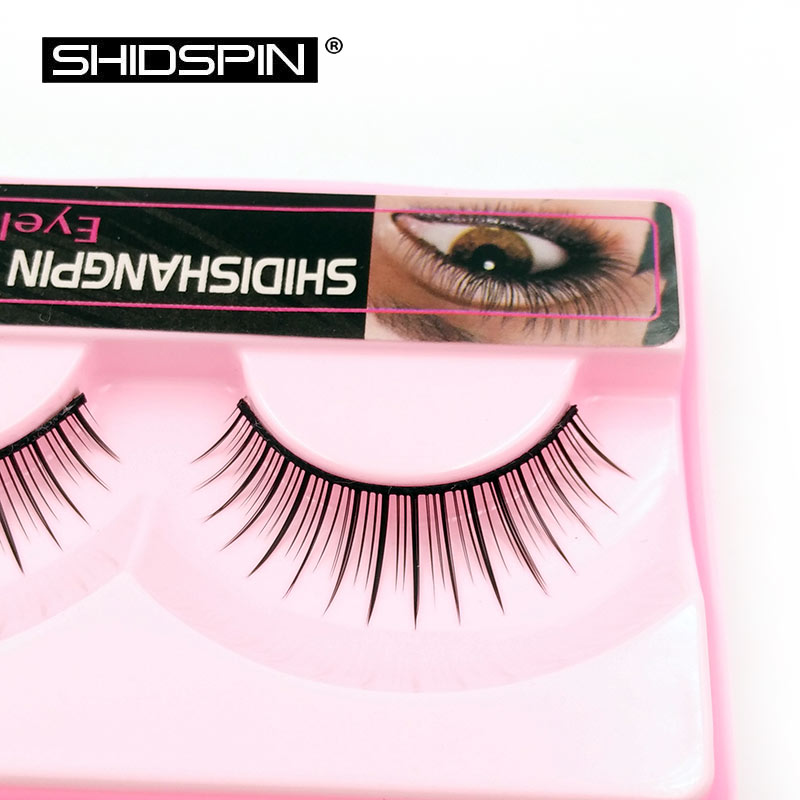 1 pair natural eyelashe makeup false eyelashes make up travelling kit eyelash extension naturais cilios P704(China (Mainland))
