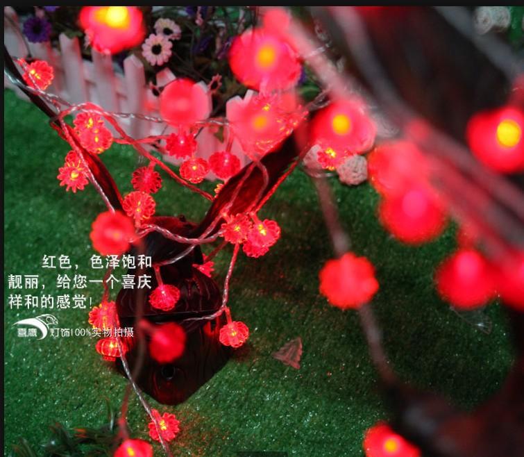5m 40leds ac 110v red chinese lantern string light led string lights