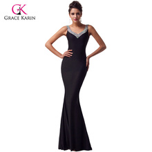 Grace Karin Slit Long Purple Red Mermaid Evening Dresses 2016 Formal Bodycon Gowns Sexy Backless Party Dress abendkleider 6061(Hong Kong)
