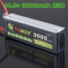 RC Quadcopter Lipo Battery 14.8V 3000mah 25C With T Plug For RC Car Helicopter 6 channel align trex Akku Deans plug
