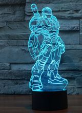 SuperHero 3D led Creative atmosphere table lamp toy 2016 New Spiderman Ironman batman 7 color Gradient visual perspective lights(China (Mainland))