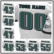 100% Stitched With Customized 43 Darren #46 Herman #46 Herman #48 Wes #53 Nigel #54 Stephen #55 Brandon Elite White Jersey(China (Mainland))