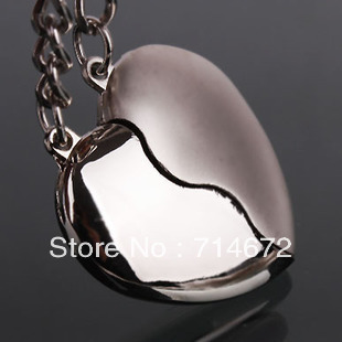 Free shpping (50pair/lot) sweet heart boy and girl lover couple metal key chain Fashion key ring