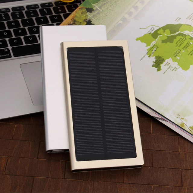 12000mAh Ultra-Thin Solar Dual USB Charger