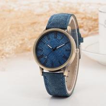 Hot Sale Wristwatch 2015 New Fashion Demin Leather Quartz Watch Analog Women Roman Scale Watch Men Casual Watch Relogio Clock