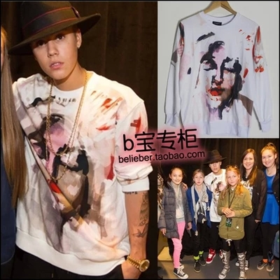 Justin bieber Camouflage doodle long-sleeve sweatshirt lovers - Jimmy Show Store store